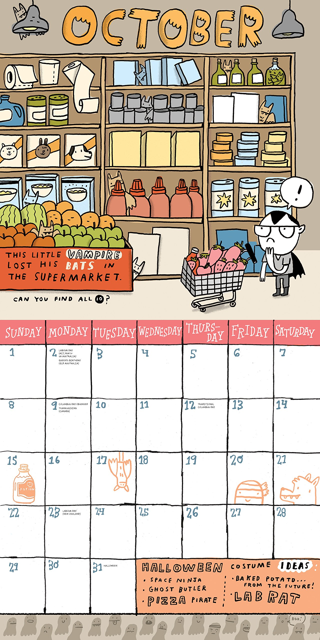 The Kid's Awesome Activity Wall Calendar 2017: Mike Lowery: 9780761188445:  Amazon.com: Books