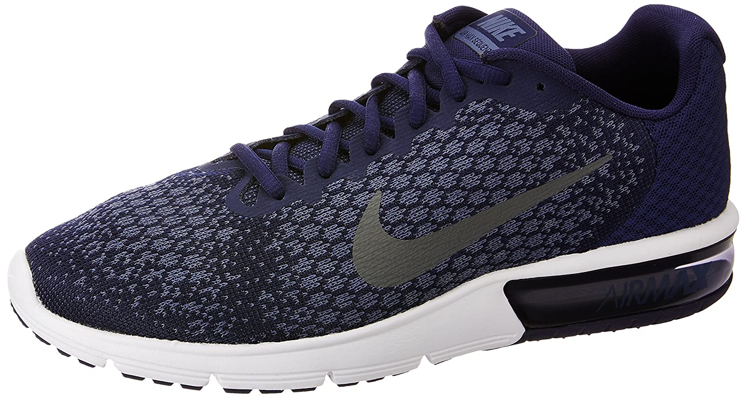 NIKE Men's Air Max Sequent 2 Running Shoe B06XK9QBTN 10.5 D(M) US|Binary Blue/Dark Grey/Dark Obsidian