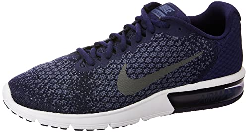 25e64dc597 Nike Men's Air Max Sequent 2 Running Shoe Binary Blue/Dark Grey/Dark  Obsidian