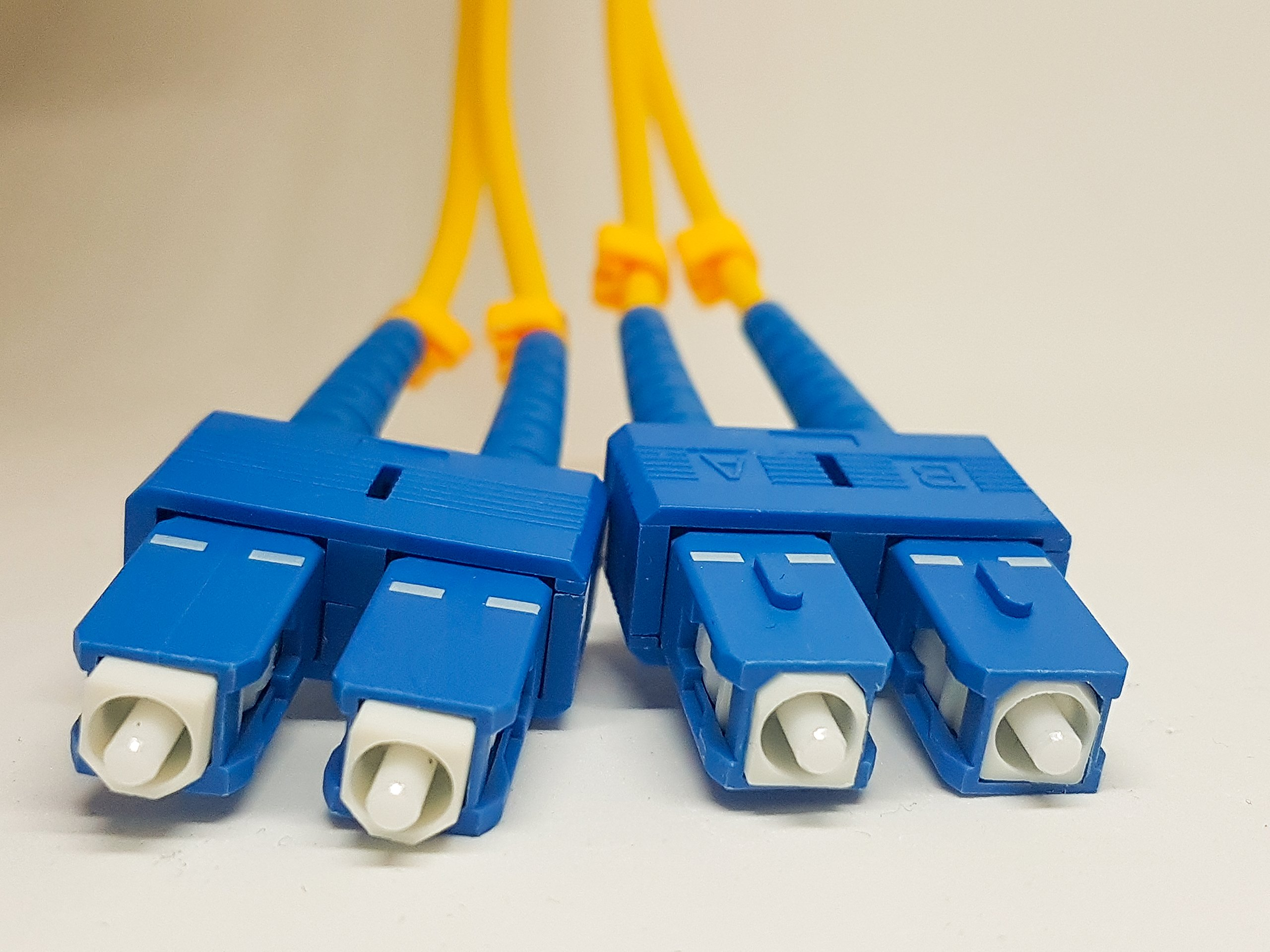 SC to SC SingleMode 15M fibre optic patch cable.Israeli Cutting Edge Technology, SC/SC Duplex 9/125 Single Mode 15M (49.21ft) Fiber Patch Cable,Single Mode Fiber Cables SC To SC, 3MM Yellow PVC.