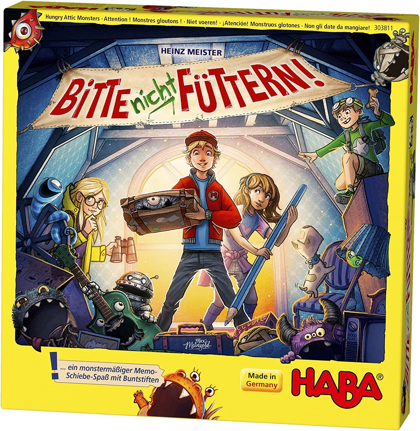 HABA Hungry Attic Monsters sliding memory game olds that's B07C5HMXS9 monstrously HABA fun, game for 5 year olds 303992 B07C5HMXS9, 新上五島町:2679e0d6 --- fancycertifieds.xyz