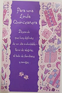 Amazon hallmark vida spanish birthday greeting card for para una linda quinceaera feliz cumpleanos happy birthday fifteen years old 15th celebration of womanhood m4hsunfo Image collections