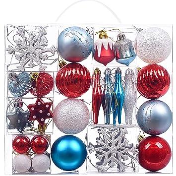 2acb969bad7 Victor s Workshop 50pcs Bolas de Navidad Decoracion Arbol Navidad ...