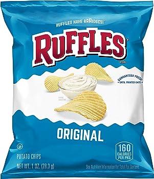 40-Pack Ruffles Original Potato Chips, 1 Ounce