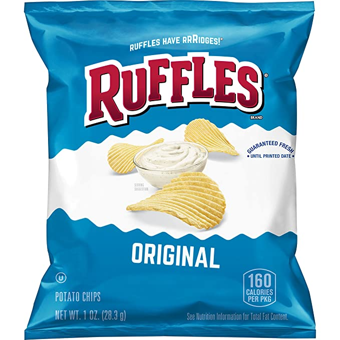 Ruffles Original Potato Chips, 1 Ounce (Pack of 40)