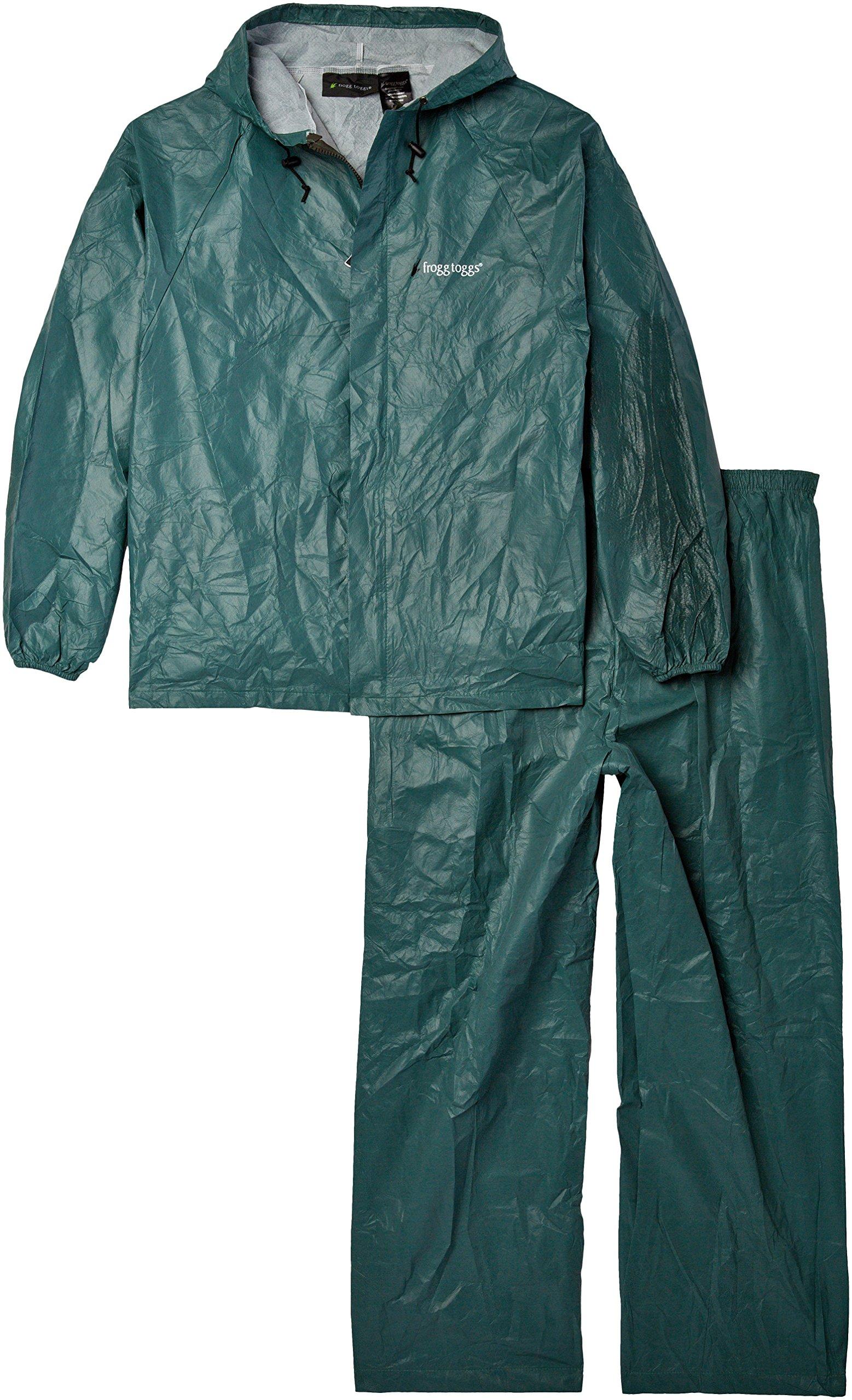 Frogg Toggs Men's Waterproof Ultra-Lite2 Suit, Forest Green, L