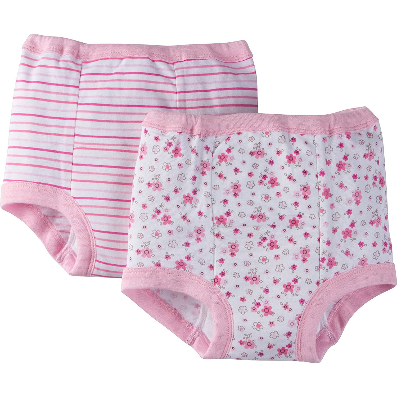 Gerber Girls' Toddler 4 Pack Training Pants,