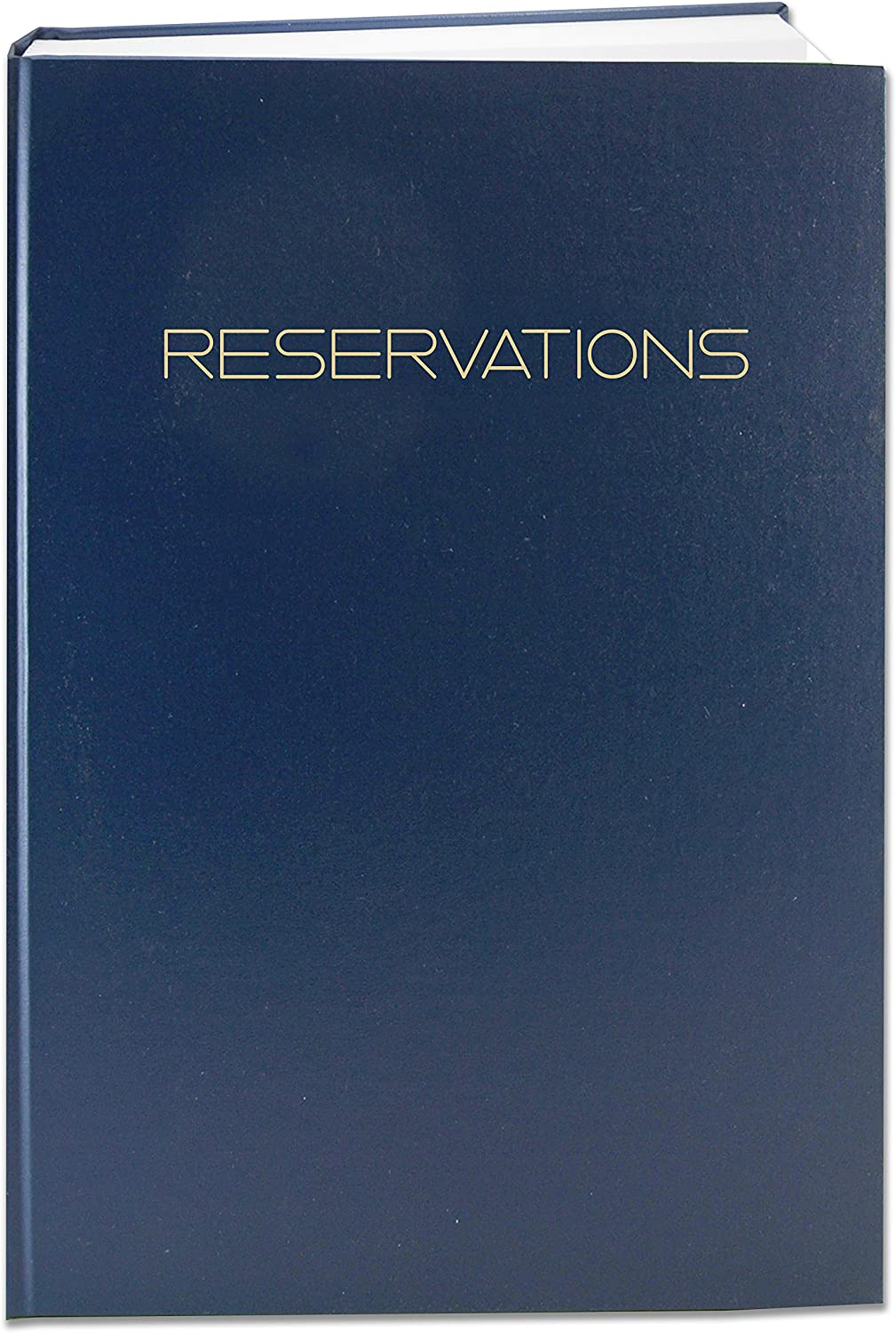 "BookFactory Reservations Book, 365 Day Table Reservations, Restaurant Dinner Reservations, 408 Pages, 8 7/8"" x 13 1/2"" Blue Imitation Leather, Smyth Sewn Hardbound (LOG-408-OCS-A-LBT79-(RESERVATIONS))"