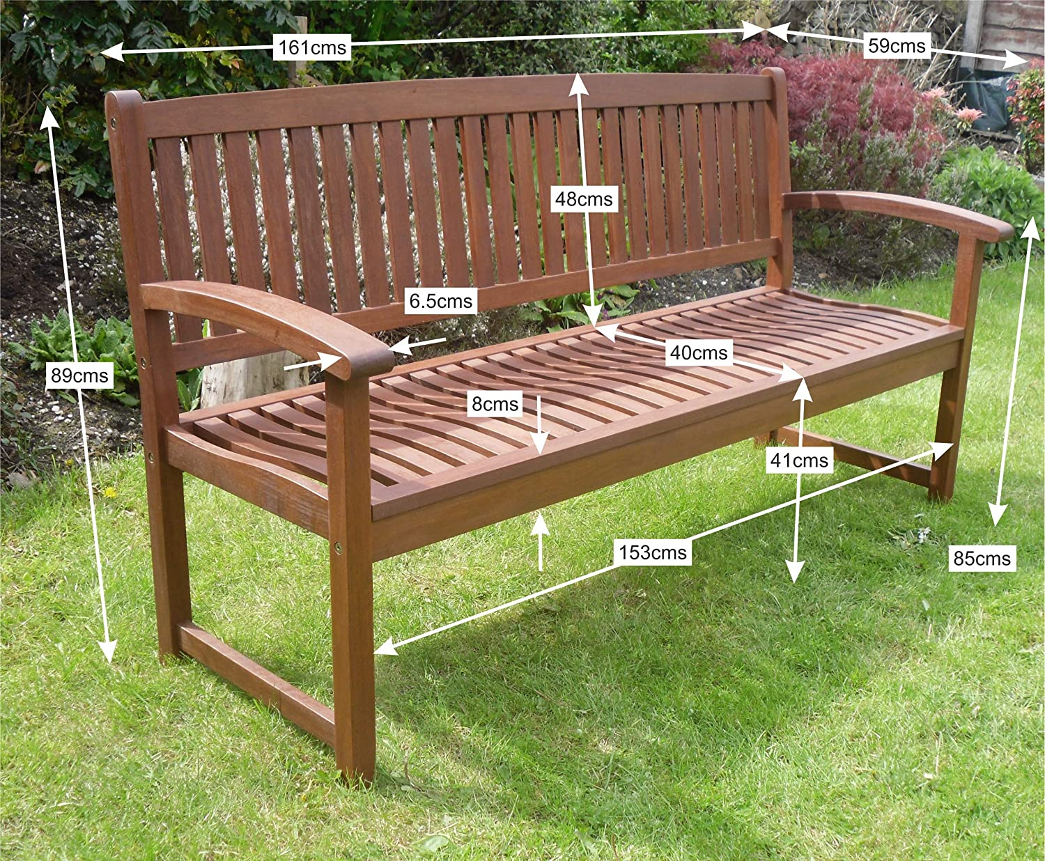 Henley Hardwood 3 Seat Garden Bench Great Outdoor Furniture For Your Garden Or Patio Amazon Co Uk Kitchen Home