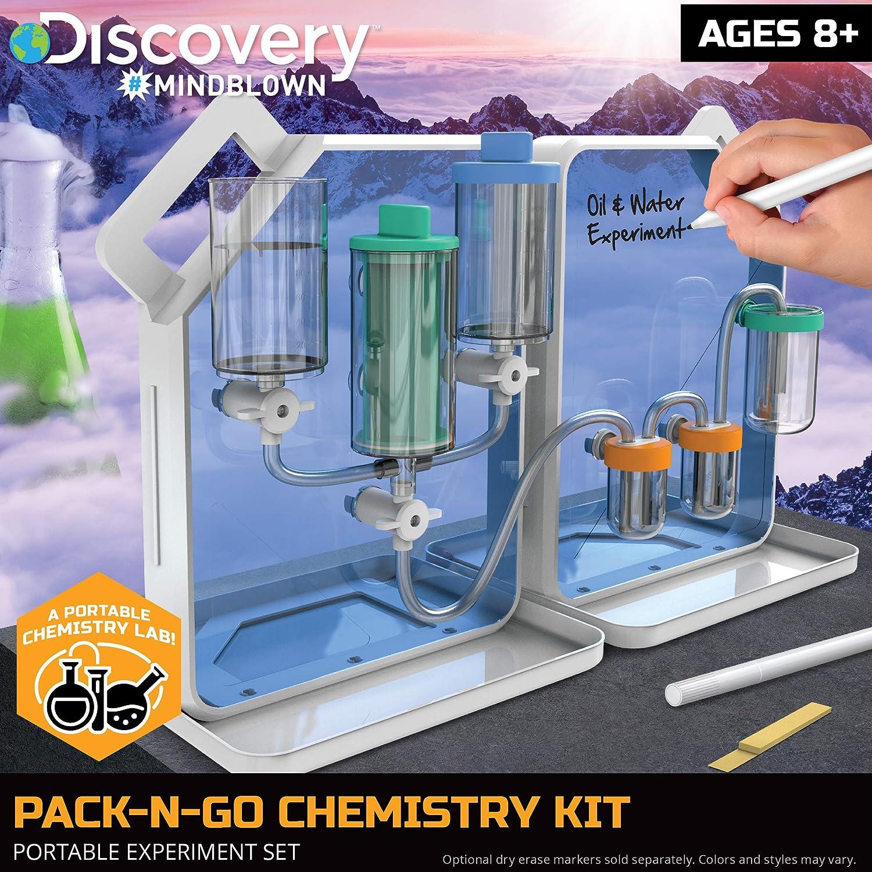 Discovery #MINDBLOWN Pack-N-Go juego de química con 30 diferentes experimentos: Amazon.es: Juguetes y juegos