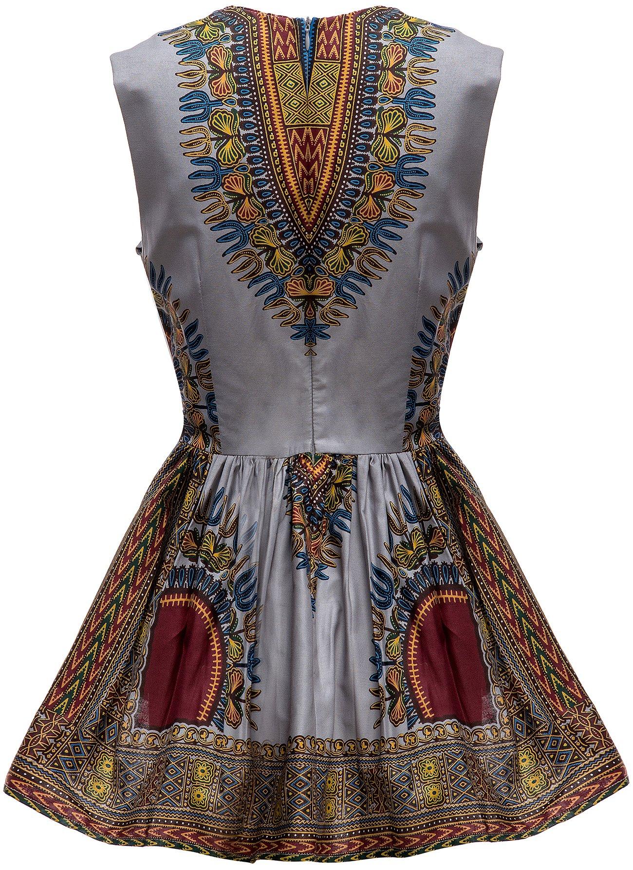 591ba51b27 Shenbolen Women African Print Shirt Dashiki Traditional Top - Best ...