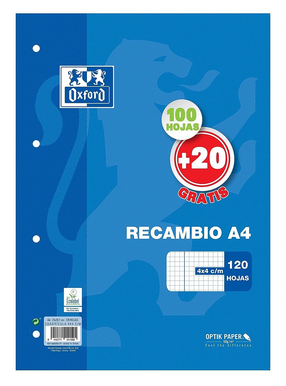 Oxford Classic - Recambio hojas sueltas (formato A4, 120 hojas) Hamelin Brands 400058179