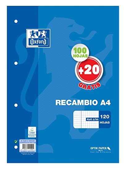 Amazon.com : Oxford 329949-100 Sheets Replacement Grid: 4x4, A4 Size : Office Products