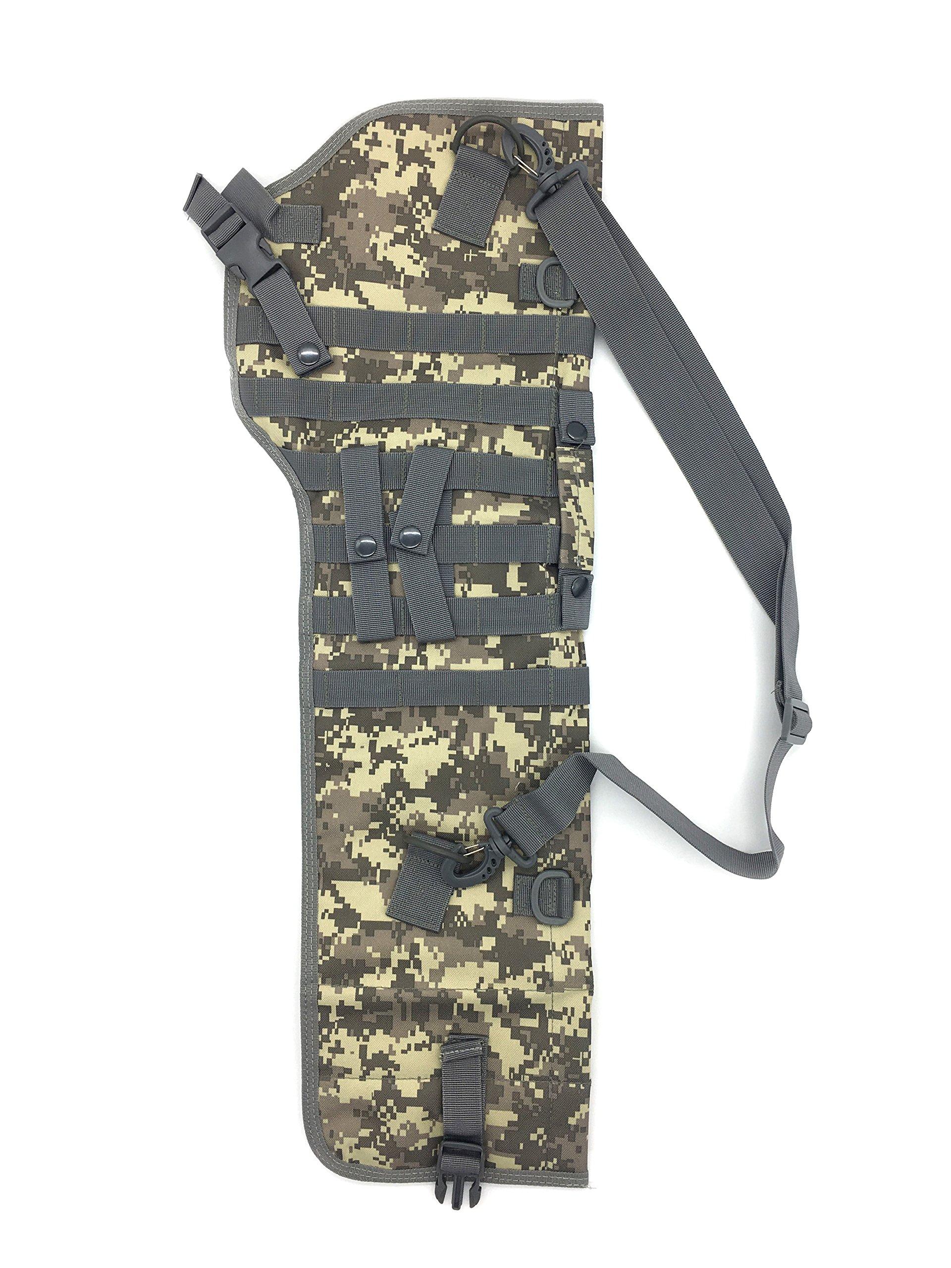 Silfrae Tactical Shotgun Rifle Scabbard Bag Shoulder Bag (Digital Camo) by Silfrae