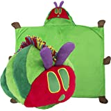 The Very Hungry Caterpillar - Multi-Purpose Stuffed Animal - Pillow or Wearable Hooded Blanket - Perfect for Play and Bedtime - Great for Toddlers - by Comfy Critters
