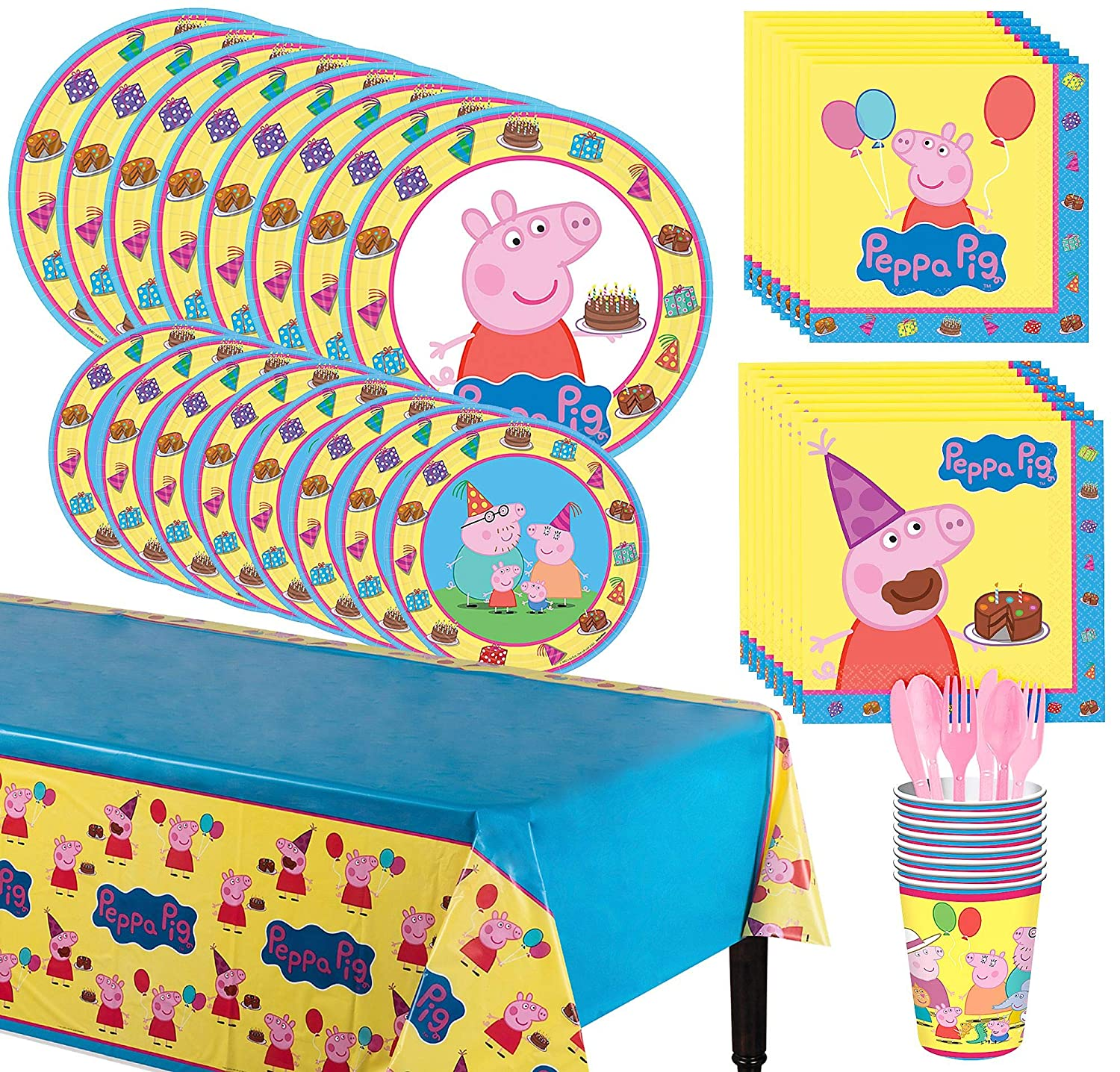 Peppa Pig Party Supply Packs for 8 Guests
