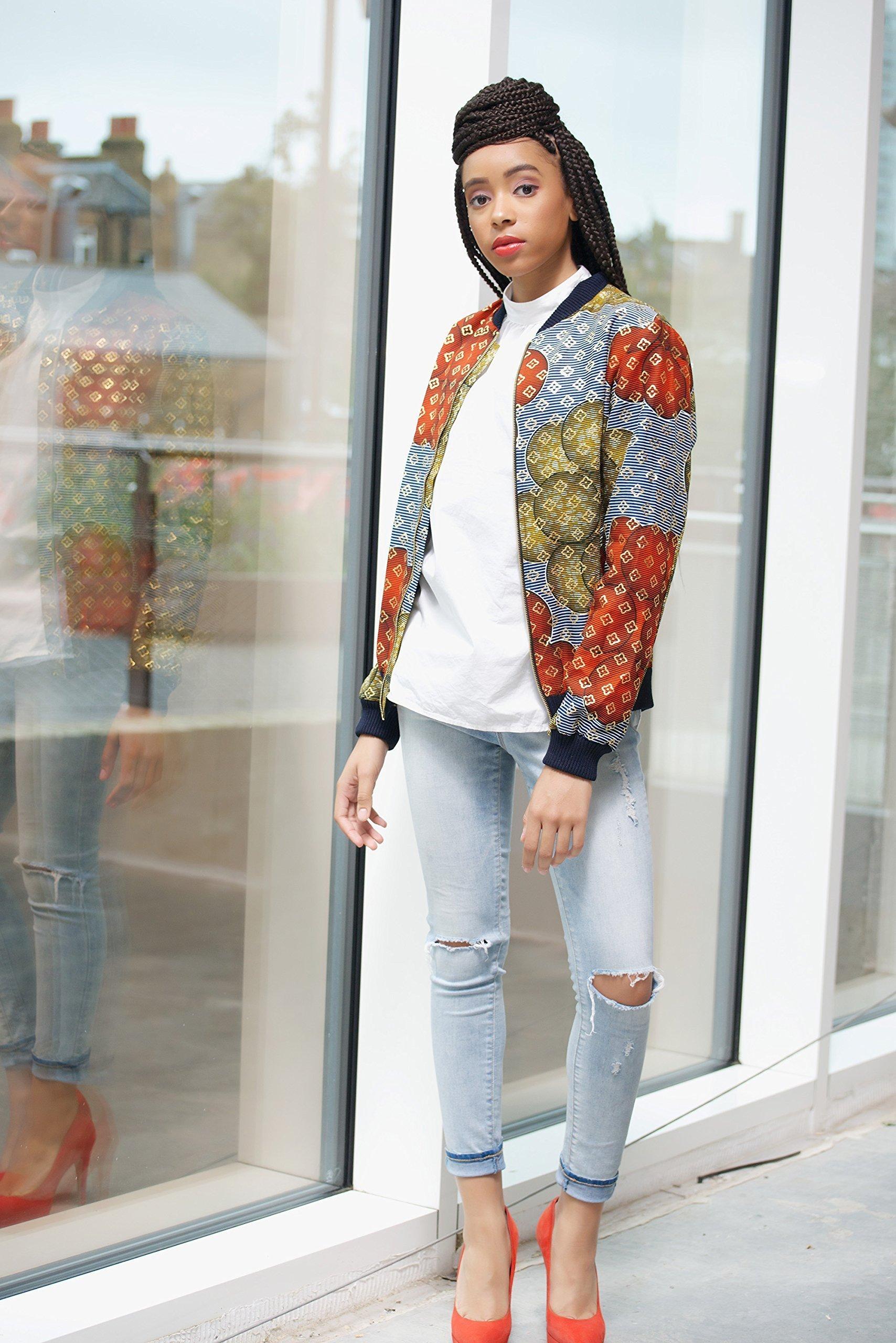 Bomber jacket / African print bomber jacket/ ankara print bomber jacket - multi bubbles