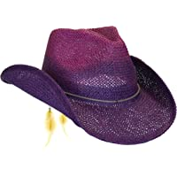 120acefbf1e Peter Grimm Women s Toyo Straw Summer Cowboy Hat w Shapeable Brim