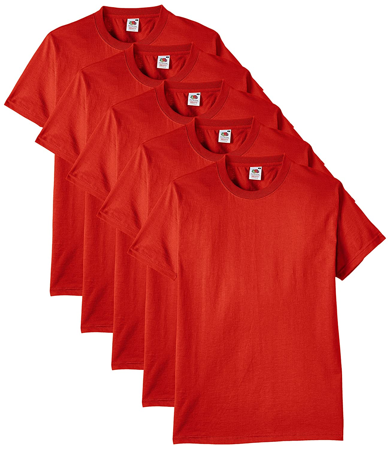 Fruit of the Loom Men's Heavy T-Shirt Pack of 5 61-212-0