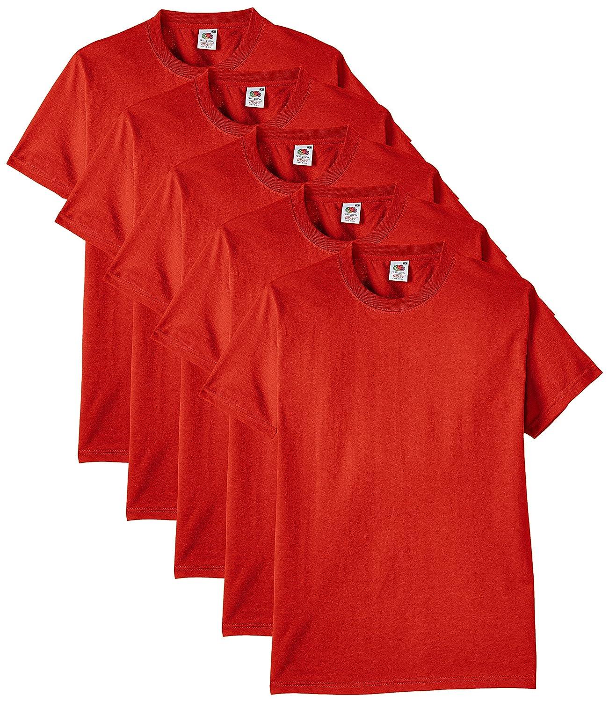eeb16eb3f39 Fruit of the Loom Men's Heavy T-Shirt Pack of 5: Amazon.co.uk: Clothing