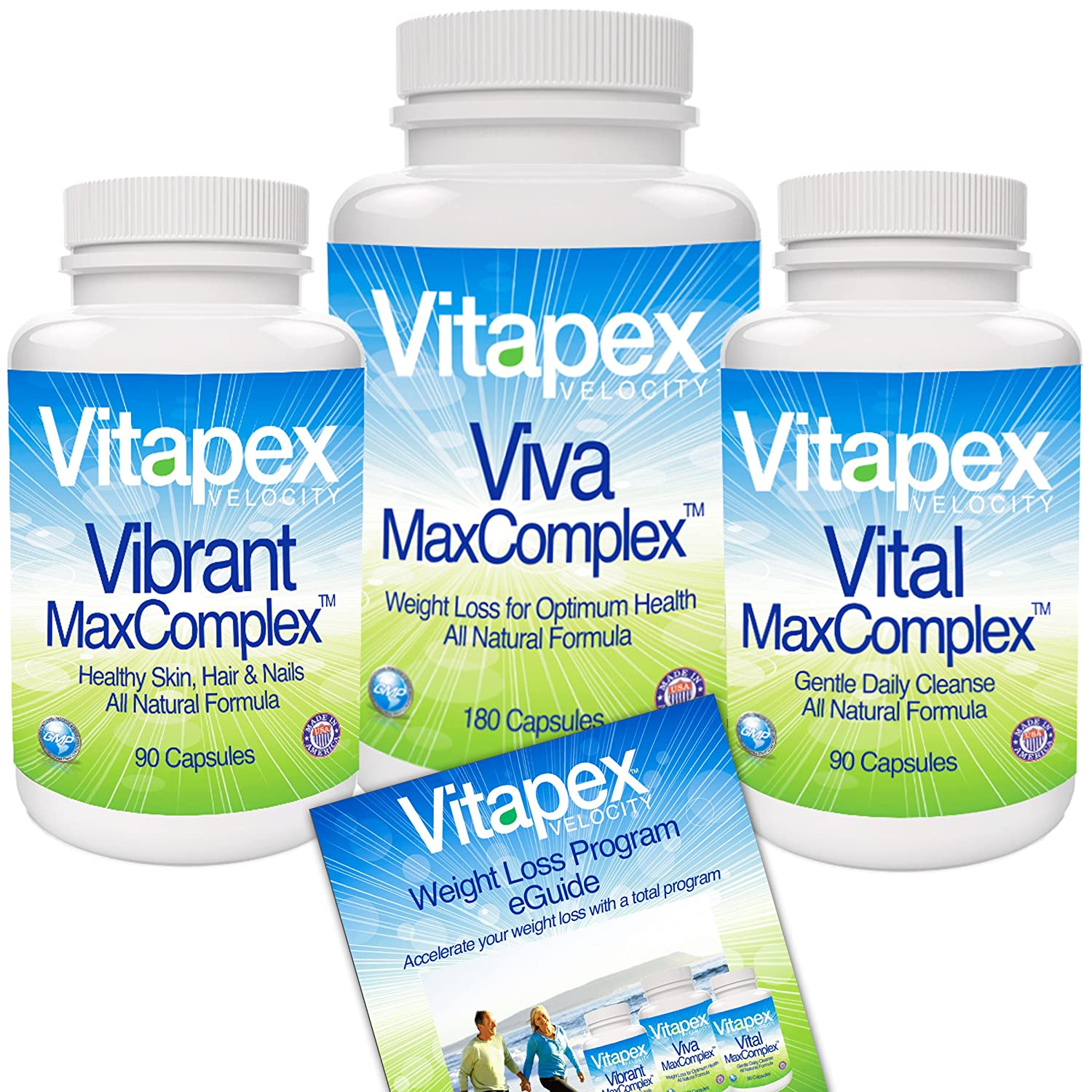Vitapex Velocity Weight Loss and Diet System With Garcinia Cambogia 65% HCA, Acai Berry and Biotin...