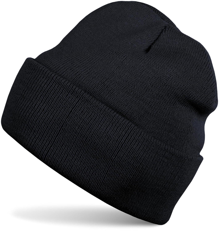 styleBREAKER klassische Beanie Strickmütze für Kinder, Feinstrick Mütze doppelt gestrickt, Kindermütze 04024030