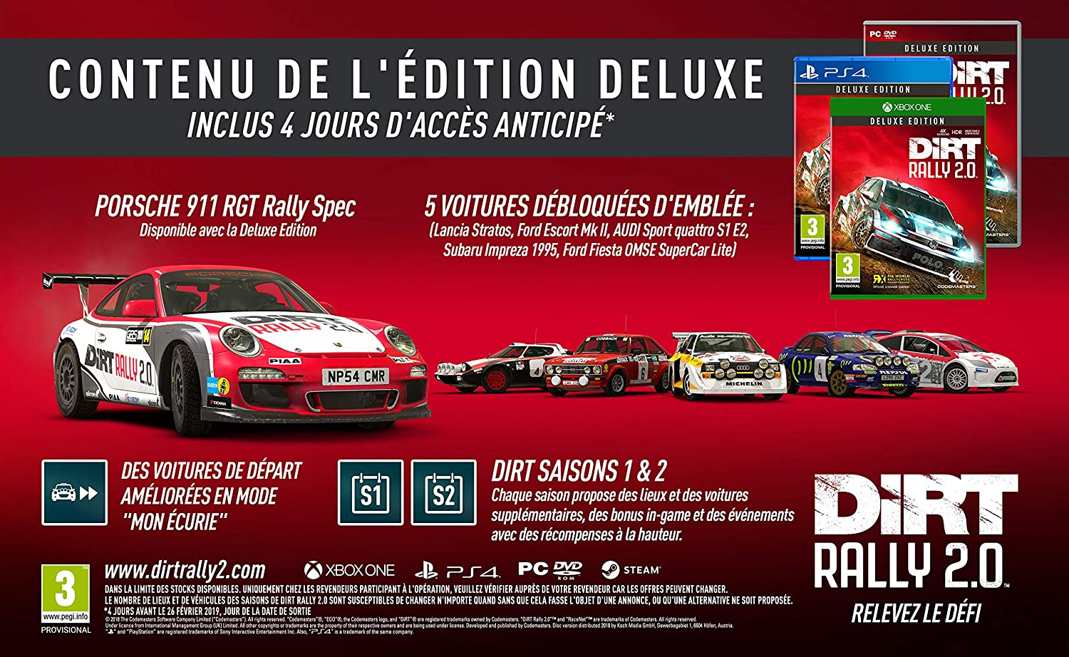 DiRT RALLY 2.0 - Deluxe Edition [Importación francesa]: Amazon.es: Videojuegos