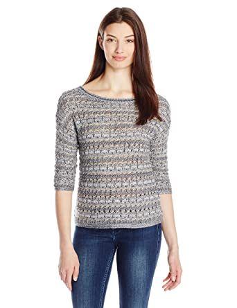 Lucky Brand Women's Metallic Pullover Sweater at Amazon Women's ...