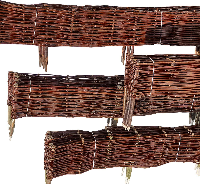 Nature Lounge Beeteinfassung Weide 20 X 60 Cm Weiden Steckzaun Als Beetumrandung Oder Gartenabgrenzung Amazon De Garten