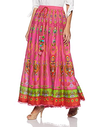 0376d7d05c BIBA Women's Skirt (MNMPOLISH13418_PINK_XXL): Amazon.in: Clothing ...