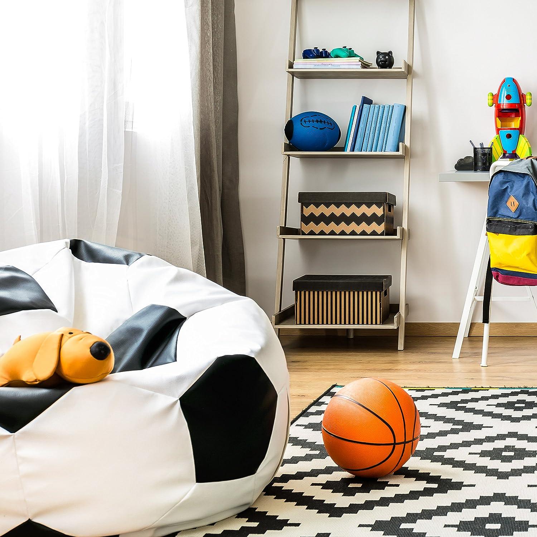 Lumaland Puf Asiento cojín Pelota balón de fútbol 90 cm: Amazon.es: Hogar