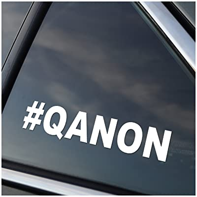 #QANON Vinyl Car Window Decal Sticker White: Automotive