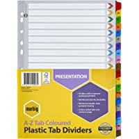 Marbig Dividers & Indices Dividers Reinf BRD Col A4 A-Z