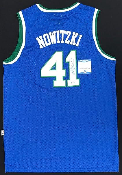 e0d3ae053e2fa ROOKIE YEAR!!! Dirk Nowitzki ADIDAS Signed DALLAS MAVERICKS Jersey ...