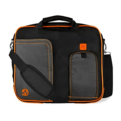 Black Orange Laptop Messenger Bags Shoulder Briefcase Satchel for All New iPad Pro 12.9 inch