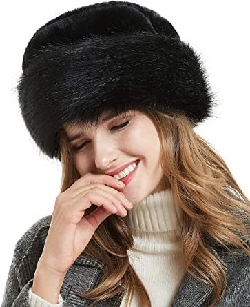 Handmade Hat Soft warm Gift for her Gray Fur hat for women Winter hat Faux fur hat with real fox fur pompom Bag Accessories