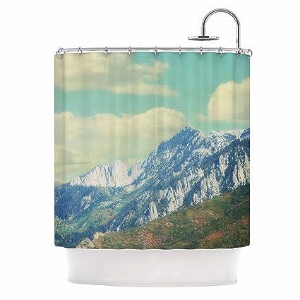 Amazon KESS InHouse Sylvia Coomes Utah Mountains Blue Nature