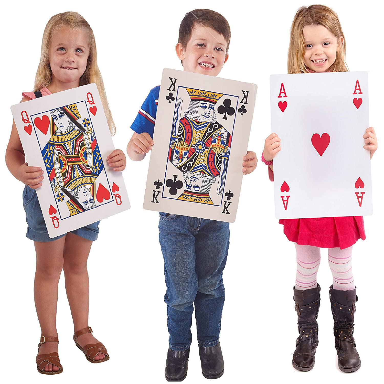 Jumbo Playing Cards Full Deck Huge Poker Index Playing Cards Fun for All  Ages! - Size 10 5 x 14 5 inches