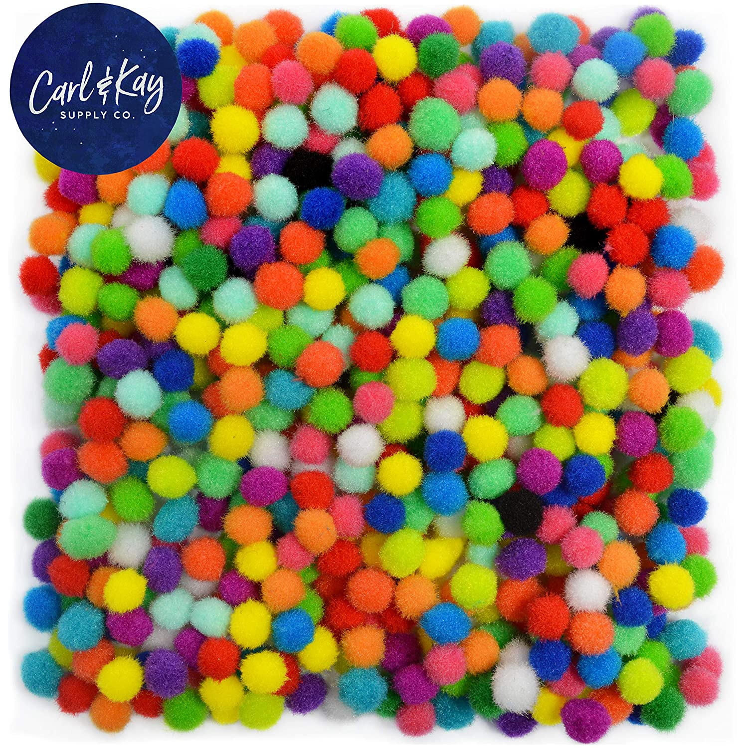 Carl /& Kay Pompoms for Crafts Craft Pom Poms for Crafts Craft Pom Pom Balls 1800 Pcs Pom Pom for Crafts 1 cm Pom Poms in Bright /& Bold Colors