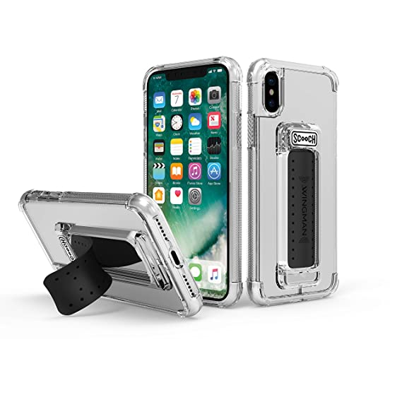 san francisco 8fd73 5a4c6 Scooch Wingman Case for iPhone Xs (Also fits iPhone X) (Clear)