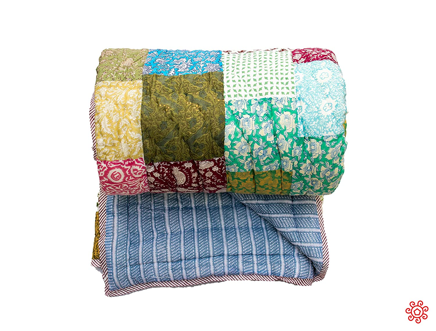 Image of All New Roysha 2020 Queen Quilt Collection - 100 Percent Handmade Patchwork Quilt - Qpw/209 Home and Kitchen