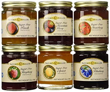 Nature's Hollow Variety 6 Pack Sugar Free Jam