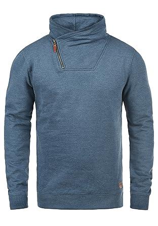 Blend Alexandros Herren Sweatshirt Pullover Troyer Pulli Mit  Cross-Over-Kragen, Größe  986b77b9a5