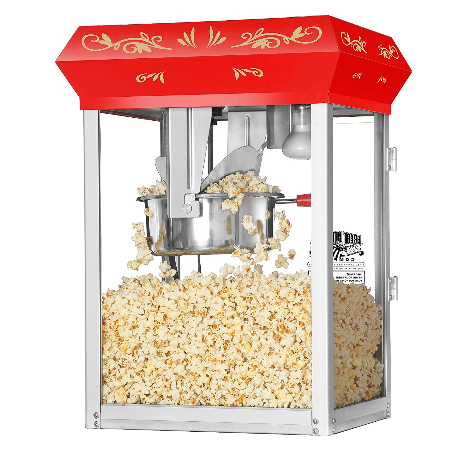 amazon com great northern popcorn 6100 8 ounce foundation red Dtx Gnp 40048 Wiring Schematic For Paducah Popper amazon com great northern popcorn 6100 8 ounce foundation red antique style popcorn popper machine electric popcorn poppers kitchen & dining