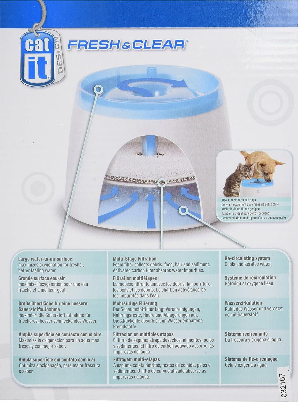 Fuente de agua para gatos y perros pequeños: Amazon.es: Hogar
