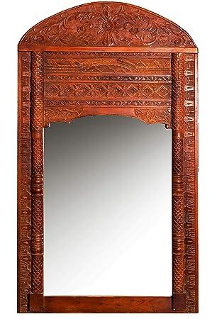 Miroir oriental Taj - 4-190 cm marron - Grand miroir ...