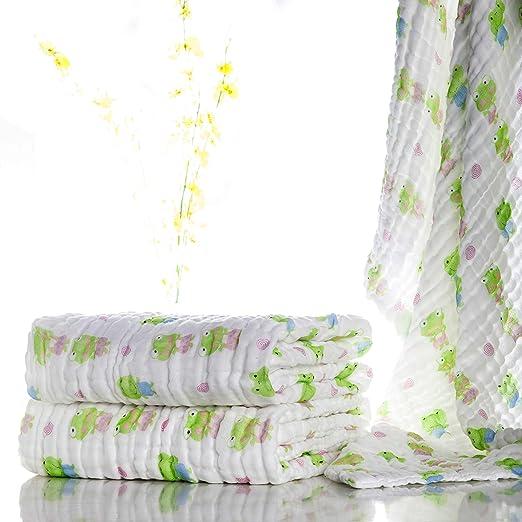 26 opinioni per Lucear Asciugamano da Bagno di Cotone Mussolino per Il Bambino Neonato