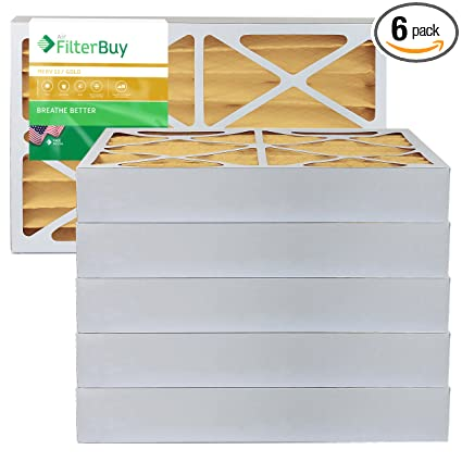 16x25x4 Air Filter Replacement for AC /& Furnace MERV 11-6 Pack