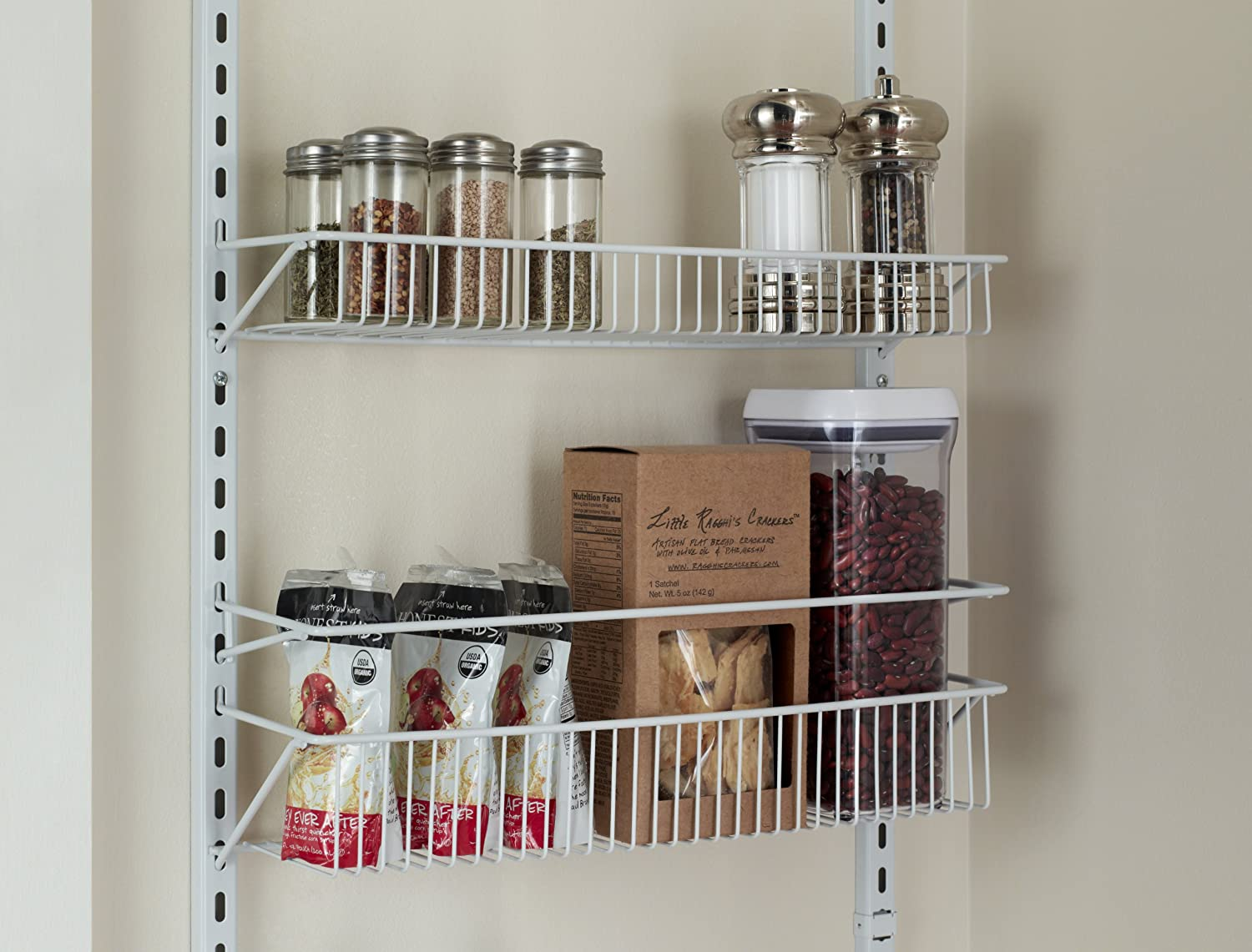 Amazon.com: ClosetMaid 1233 Adjustable 8-Tier Wall and Door Rack ...