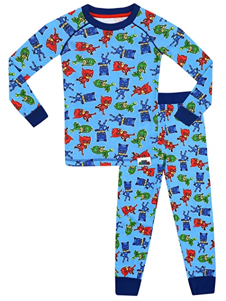 PJ MASKS - Pijama para Niños - PJ Masks - Ajuste Ceñido - 3 - 4